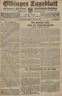 Elbinger Tageblatt, Nr. 22 Donnerstag 26 Januar 1928, 5. Jahrgang