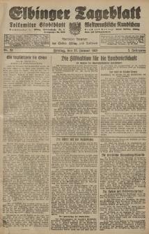 Elbinger Tageblatt, Nr. 23 Freitag 27 Januar 1928, 5. Jahrgang
