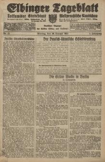 Elbinger Tageblatt, Nr. 25 Montag 30 Januar 1928, 5. Jahrgang