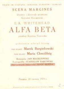 Alfa beta - program teatralny