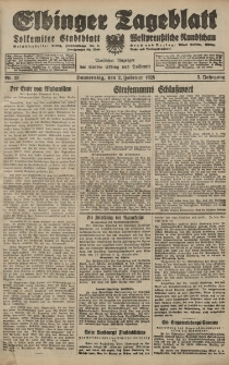 Elbinger Tageblatt, Nr. 28 Donnerstag 2 Februar 1928, 5. Jahrgang