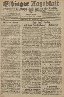Elbinger Tageblatt, Nr. 34 Donnerstag 9 Februar 1928, 5. Jahrgang