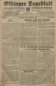 Elbinger Tageblatt, Nr. 38 Dienstag 14 Februar 1928, 5. Jahrgang