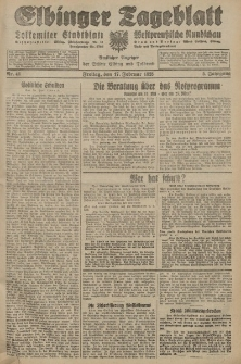 Elbinger Tageblatt, Nr. 41 Freitag 17 Februar 1928, 5. Jahrgang
