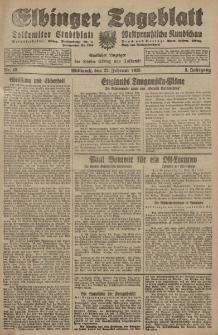 Elbinger Tageblatt, Nr. 45 Mittwoch 22 Februar 1928, 5. Jahrgang