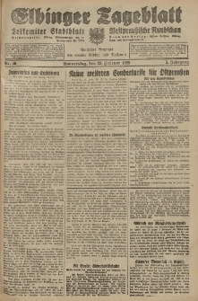 Elbinger Tageblatt, Nr. 46 Donnerstag 23 Februar 1928, 5. Jahrgang