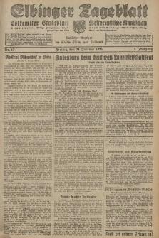 Elbinger Tageblatt, Nr. 47 Freitag 24 Februar 1928, 5. Jahrgang
