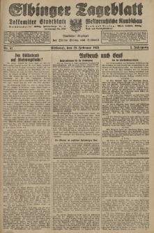 Elbinger Tageblatt, Nr. 51 Mittwoch 29 Februar 1928, 5. Jahrgang