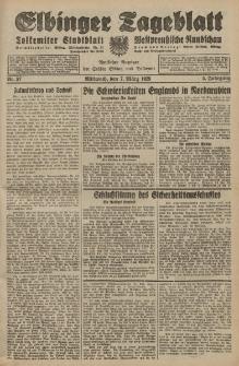 Elbinger Tageblatt, Nr. 57 Mittwoch 7 März 1928, 5. Jahrgang