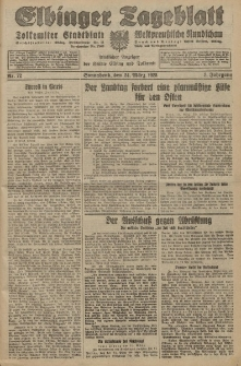 Elbinger Tageblatt, Nr. 72 Sonnabend 24 März 1928, 5. Jahrgang