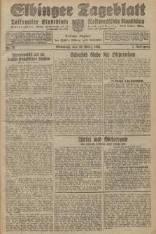 Elbinger Tageblatt, Nr. 75 Mittwoch 28 März 1928, 5. Jahrgang