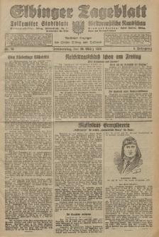 Elbinger Tageblatt, Nr. 76 Donnerstag 29 März 1928, 5. Jahrgang