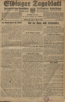 Elbinger Tageblatt, Nr. 77 Mittwoch 3 April 1929, 6. Jahrgang