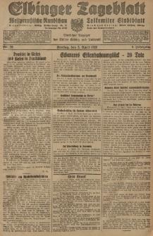 Elbinger Tageblatt, Nr. 79 Freitag 5 April 1929, 6. Jahrgang