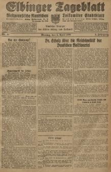 Elbinger Tageblatt, Nr. 81 Montag 8 April 1929, 6. Jahrgang