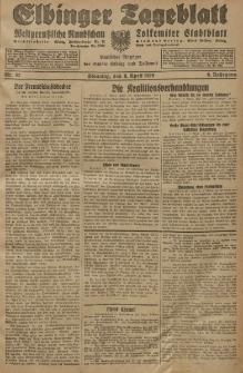 Elbinger Tageblatt, Nr. 82 Dienstag 9 April 1929, 6. Jahrgang