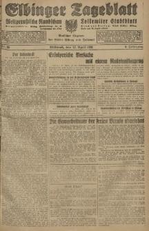 Elbinger Tageblatt, Nr. 89 Mittwoch 17 April 1929, 6. Jahrgang