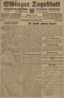 Elbinger Tageblatt, Nr. 90 Donnerstag 18 April 1929, 6. Jahrgang