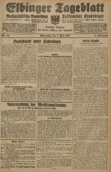 Elbinger Tageblatt, Nr. 101 Mittwoch 1 Mai 1929, 6. Jahrgang