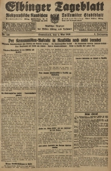 Elbinger Tageblatt, Nr. 104 Sonnabend 4 Mai 1929, 6. Jahrgang