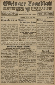 Elbinger Tageblatt, Nr. 121 Montag 27 Mai 1929, 6. Jahrgang