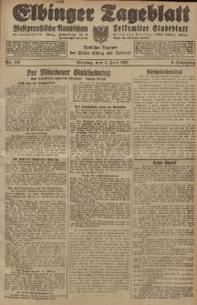 Elbinger Tageblatt, Nr. 127 Montag 3 Juni 1929, 6. Jahrgang