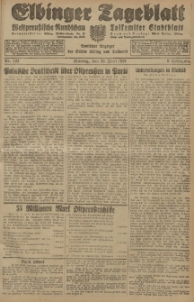 Elbinger Tageblatt, Nr. 133 Montag 10 Juni 1929, 6. Jahrgang