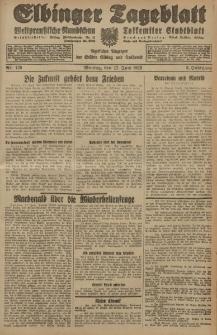 Elbinger Tageblatt, Nr. 139 Montag 17 Juni 1929, 6. Jahrgang