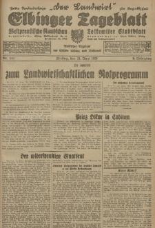 Elbinger Tageblatt, Nr. 143 Freitag 21 Juni 1929, 6. Jahrgang
