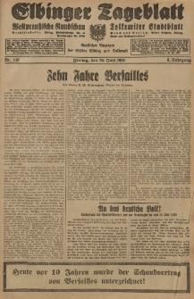 Elbinger Tageblatt, Nr. 149 Freitag 28 Juni 1929, 6. Jahrgang