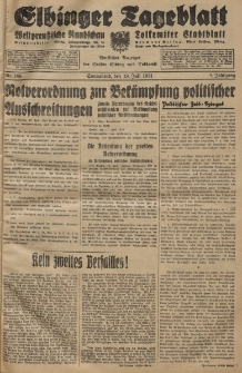 Elbinger Tageblatt, Nr. 166 Sonnabend 18 Juli 1931, 8. Jahrgang