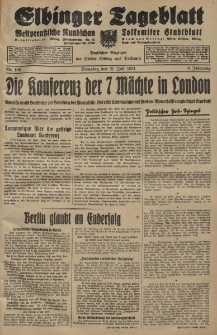 Elbinger Tageblatt, Nr. 168 Dienstag 21 Juli 1931, 8. Jahrgang