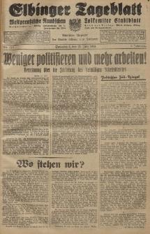 Elbinger Tageblatt, Nr. 172 Sonnabend 25 Juli 1931, 8. Jahrgang