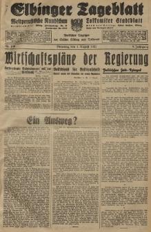 Elbinger Tageblatt, Nr. 180 Dienstag 4 August 1931, 8. Jahrgang