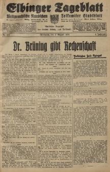 Elbinger Tageblatt, Nr. 181 Mittwoch 5 August 1931, 8. Jahrgang