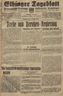 Elbinger Tageblatt, Nr. 183 Freitag 7 August 1931, 8. Jahrgang