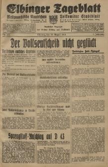 Elbinger Tageblatt, Nr. 185 Montag 10 August 1931, 8. Jahrgang