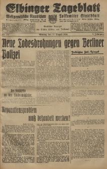 Elbinger Tageblatt, Nr. 191 Montag 17 August 1931, 8. Jahrgang