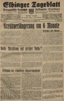 Elbinger Tageblatt, Nr. 192 Dienstag 18 August 1931, 8. Jahrgang