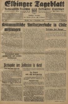 Elbinger Tageblatt, Nr. 207 Freitag 4 September 1931, 8. Jahrgang