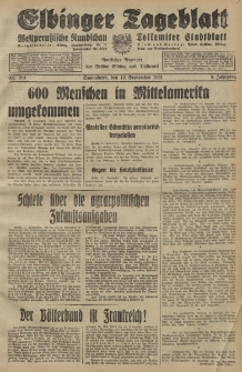 Elbinger Tageblatt, Nr. 214 Sonnabend 12 September 1931, 8. Jahrgang