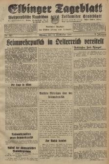 Elbinger Tageblatt, Nr. 215 Montag 14 September 1931, 8. Jahrgang