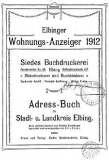 Elbinger Wohnungs-Anzeiger 1912