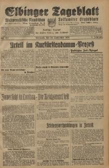 Elbinger Tageblatt, Nr. 223 Mittwoch 23 September 1931, 8. Jahrgang