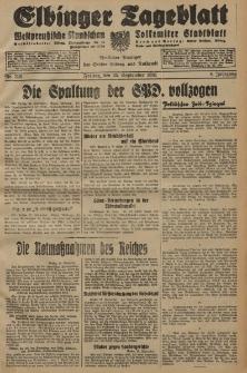 Elbinger Tageblatt, Nr. 225 Freitag 25 September 1931, 8. Jahrgang