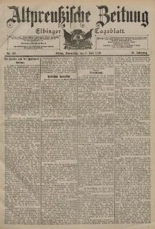 Altpreussische Zeitung, Nr. 156 Donnerstag 6 Juli 1899, 51. Jahrgang