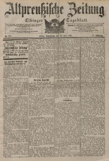 Altpreussische Zeitung, Nr. 170 Sonnabend 22 Juli 1899, 51. Jahrgang