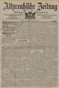 Altpreussische Zeitung, Nr. 171 Sonntag 23 Juli 1899, 51. Jahrgang