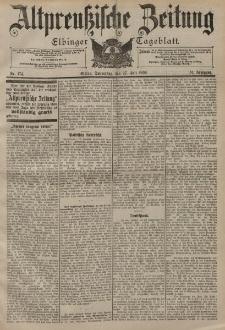 Altpreussische Zeitung, Nr. 174 Donnerstag 27 Juli 1899, 51. Jahrgang