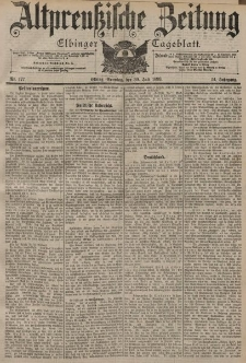 Altpreussische Zeitung, Nr. 177 Sonntag 30 Juli 1899, 51. Jahrgang